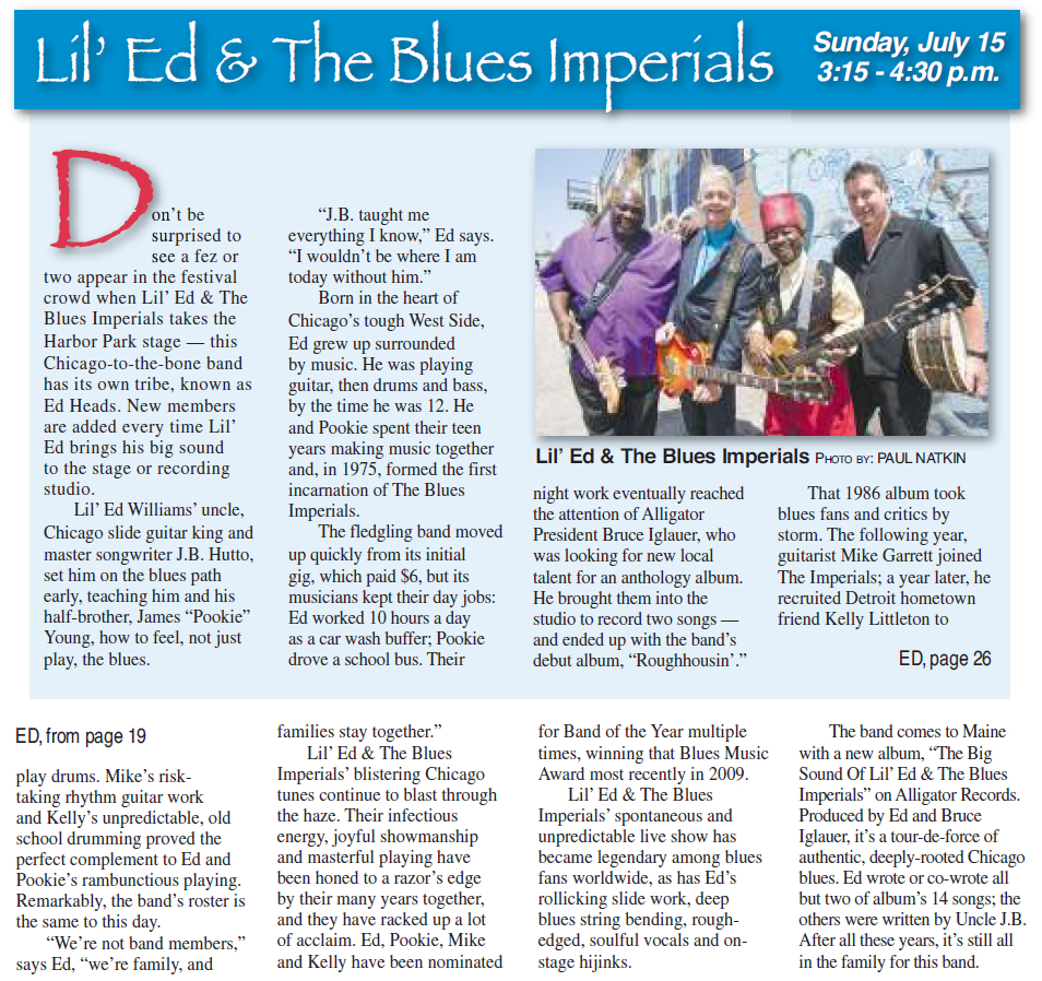 press review – LIL'ED & THE BLUES IMPERIALS – OFFICIAL WEBSITE